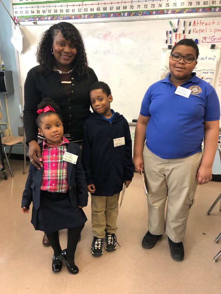 Ms. Friday, the Assistant principal with students